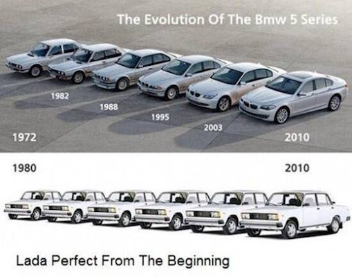 Evolution of Lada and BMW